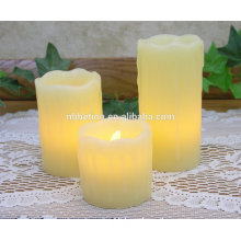 LED Real Wax Pillar Candles Flameless Flickering dripping wax led candles flicker flame candle wax led candles battery operated