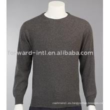 Suéter de cachemira con cuello redondo