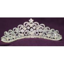 2015 Tiara nupcial cristalina de la boda del Rhinestone de la corona del nuevo diseño