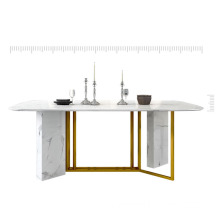 Carrara white dining table stone table top