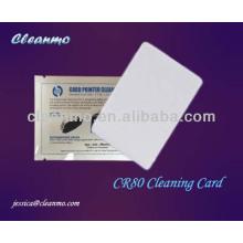 Cartão da limpeza do ATM / POS CR80, cartão da limpeza do leitor de cartão Pre-molhado com classe elétrica Ipa