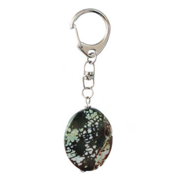 Natural Gemstone Agate Keychain