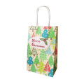 Christmas Decoration Gift Bags With Handle, Lovely Tree Santa Claus Custom Christmas Gift Paper Bag