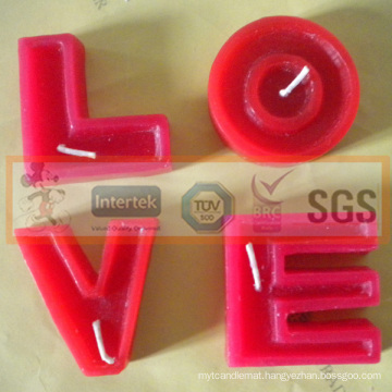 New Designed Various Letter Shaped Candle