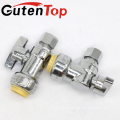 GutenTop High Quality Push fit Angle Shut Off Water Valve for Ice Maker Installation 1/2 Inch and 1/4 Inch Compression
