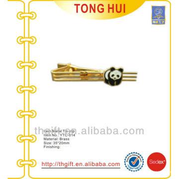 La panda animal de encargo formó el metal del lazo del logotipo