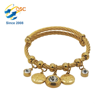 Simple Design With Plated Gold Fashion Jewelry Charm Bracelet