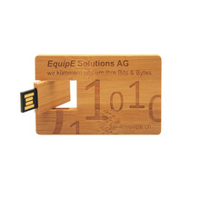 2021 NEW Card Usb Flash USB Card Promotional Customized Logo 8GB  Wooden Card  Flash Drive USB