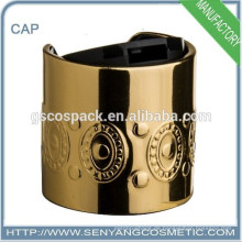 Großhandel 24mm Disc Top Cap Silber Metall geprägt Flasche Cap