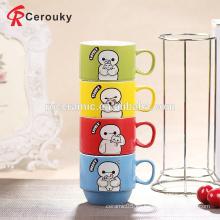 Taza de cerámica barata promocional del cappuccino