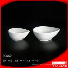 EuroHome goutte à goutte design hôtel vaisselle blanc petit plat en porcelaine