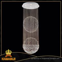 Moderno techo de doble bola lámpara de cristal