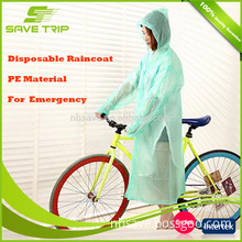 China supprier custom printed disposable raincoat for bike