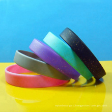 Multiple Solid Color Promotional Gifts Plain Silicone Wristbands Free Samples Blank Glitter Silicone Bracelets