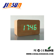 Wooden Alarm LED Clock for Kids