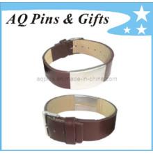 Bracelet en cuir avec fermoir de montre
