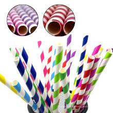 Kraft papel food 100% fabricante de palha de papel, palha de papel biodegradável beber