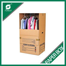 Wardrobe Cartons Corrugated Moving Box with Metal Pole