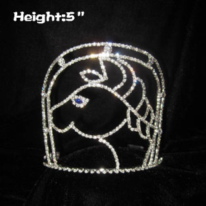 Rhinestone Cowboy Horse Shaped Pageant Crowns