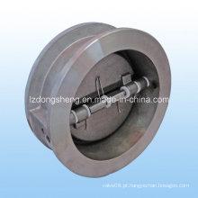 Válvula de retenção de disco duplo de aço inoxidável tipo Wafer