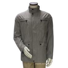 Abrigo casual de chaqueta con cremallera Highneck de los hombres
