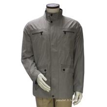 Manteau à capuche décontracté Highneck pour homme