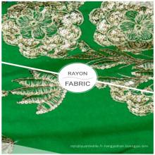 Textile à la maison Tissus de vêtements 100% rayonne brodés à paillettes