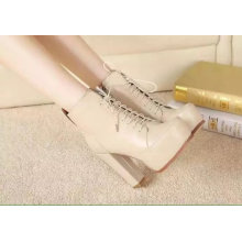 Beige Fashion High Heel Ankle Boot for Women (S 50-1)