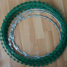 green PVC coated concertina razor wire