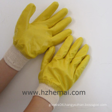 Fully Dipped Yellow Nitrile Gloves Labor Hand Work Glove China