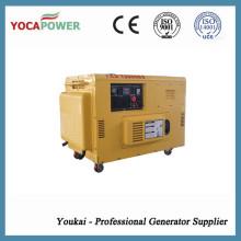 Generador silencioso de la energía 9kw de la eficacia alta del trabajo