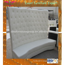 Sinofur hall white tufted high back sofa