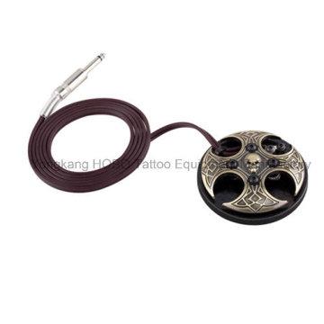 Interruptor de pé superior da máquina da tatuagem da fonte de alimentação da tatuagem do pedal do crânio