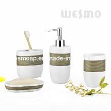 Hand Brush Painting Porcelain Bathroom Set (WBC0810A)