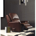 Echtes Leder Chaise Leder Sofa Elektrisch Verstellbares Sofa (843)