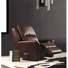 Sofá de sala de estar de couro genuino (843)