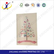 Approvisionnement d'usine prix attractif décoration à la main carte de voeux, carte de voeux blanche