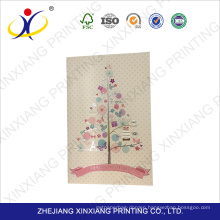 Factory supply attractive price handmade decoration greeting card,white greeting card