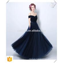 ¡Promoción de la Navidad !!! Moda mujer sexy largo negro vestido de encaje vestido de Hombro Homecoming elegante vestido de cena formal