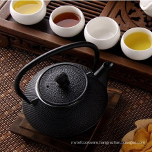 Black Hammered Cast Iron Teapot Kettle