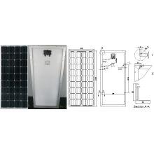 Monokristallines Solarmodul PV-Modul 18V 90W 95W 100W mit TUV ISO-Zertifikat
