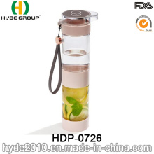 Wholesale Double Case BPA Free Plastic Fruit Infusion Bottle, Tritan Fruit Infuser Bottle (HDP-0726)