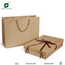 Коричневый бумажный мешок с собственный логотип