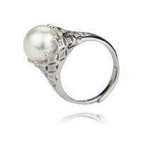 11-12mm AAA Grad 925 Sterling Silber kultiviert Süßwasser Perle Ring Design