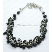 Obsidian Chip Gemstone Chain Necklace