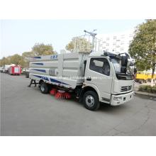 4 brush diesel road dust sweeper cleaner truck