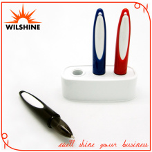 Popular Plastic Desk Pen with Base for Promotion (VDP336)