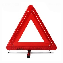 car LED flashing warning triangle traffic sign