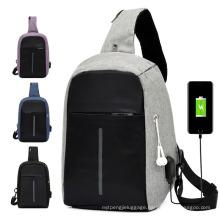 2021 New Design Unisex Wholesale Anti Theft Custom Men Trendy Waterproof Crossbody Chest Shoulder Sling Bag for Men Waist Bag