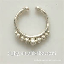 Silver septum for non pierced nose septum jewelry indian nose ring